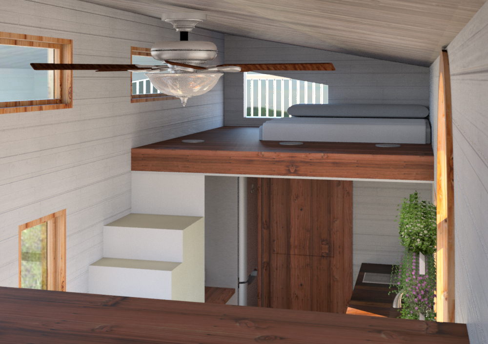 Rendering Of Tiny House   Bedroom. Download Photo