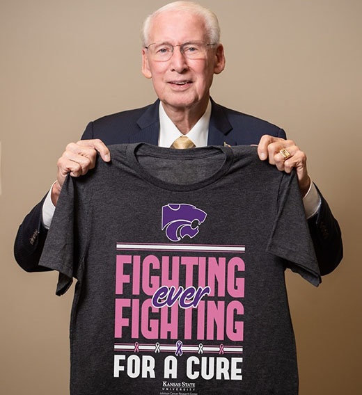 Bill Snyder and Fighting for a Cure shirt