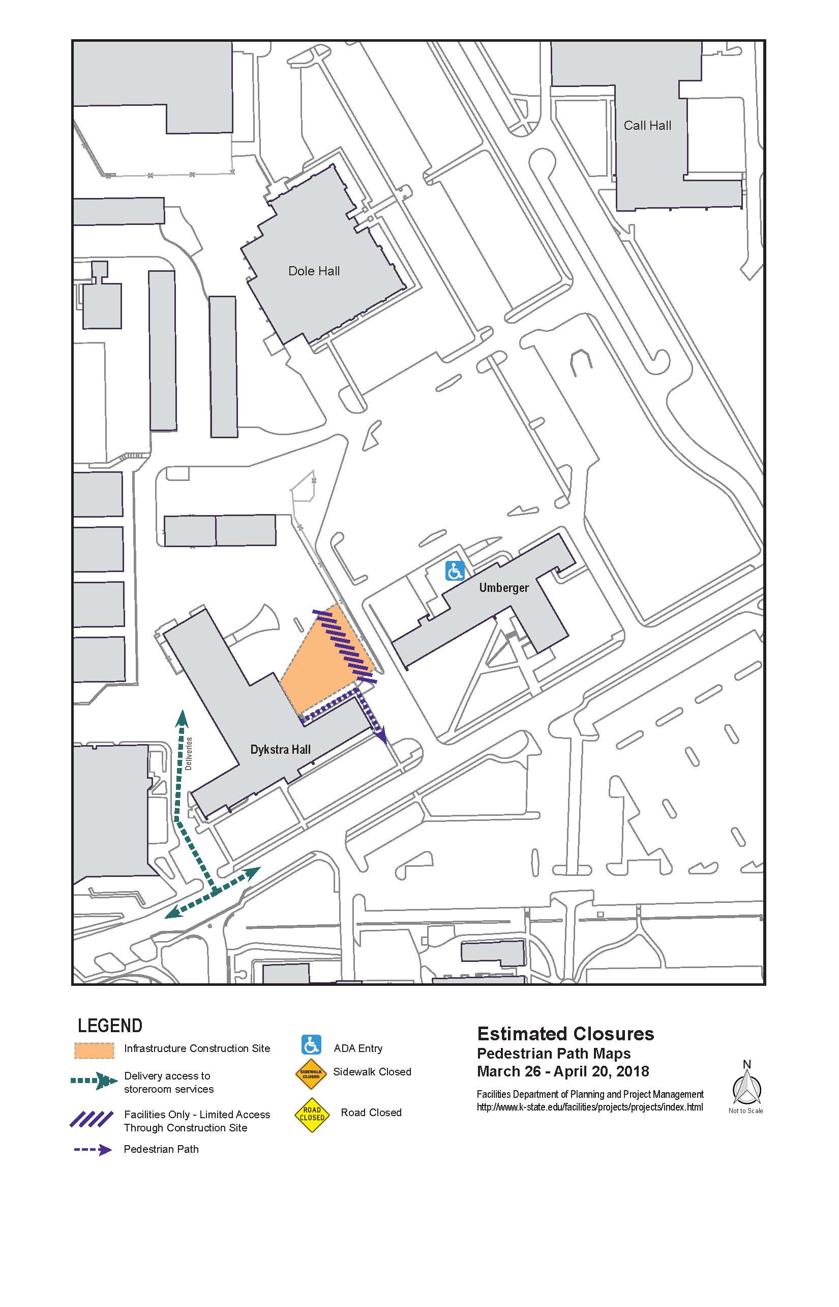 Temporary closure of area east of Dykstra Hall complex on ada bathroom mirrors, ada home kitchen, ada approved house plans, wheelchair friendly house plans, ada home design, ada accessible house plans, ada home bathrooms, handicapped house plans,