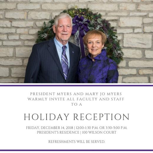 2018 Holiday Reception invitation