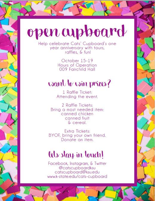 Cats' Cupboard Open Cupboard