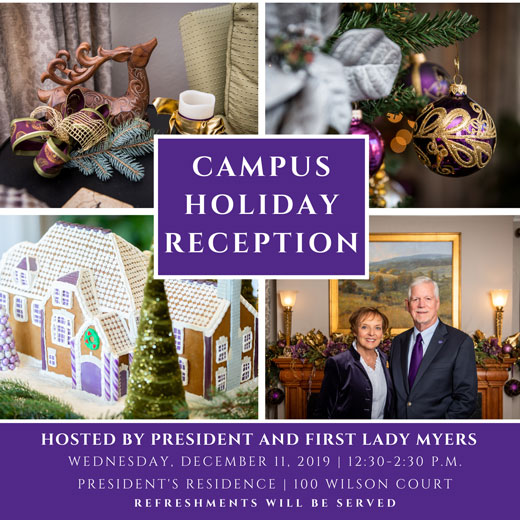 Holiday Reception invitation