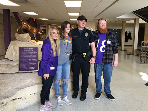 K-State students and police officer recognized for life-saving efforts