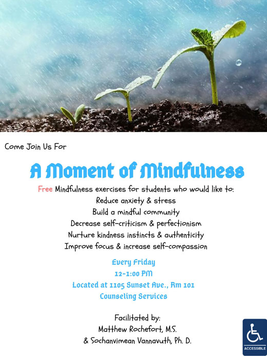 A Moment of Mindfulness flyer