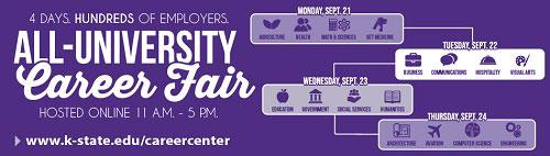 All-University Career Fair banner