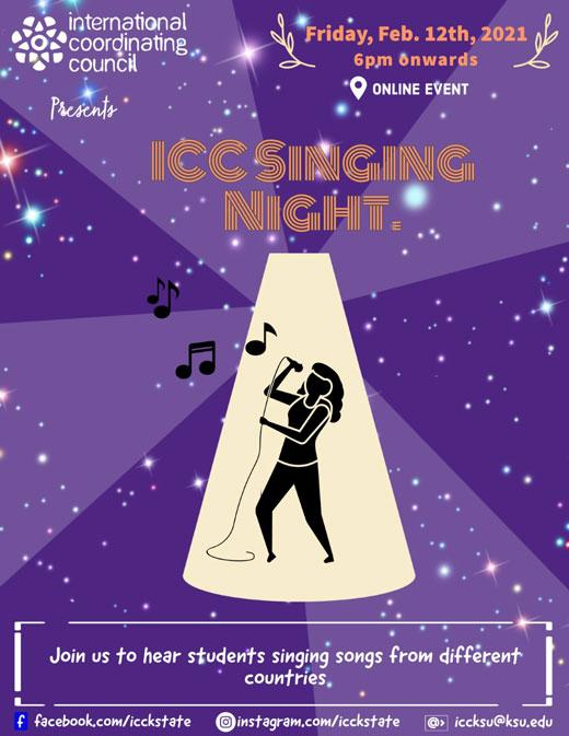 ICC International Singing Night flyer