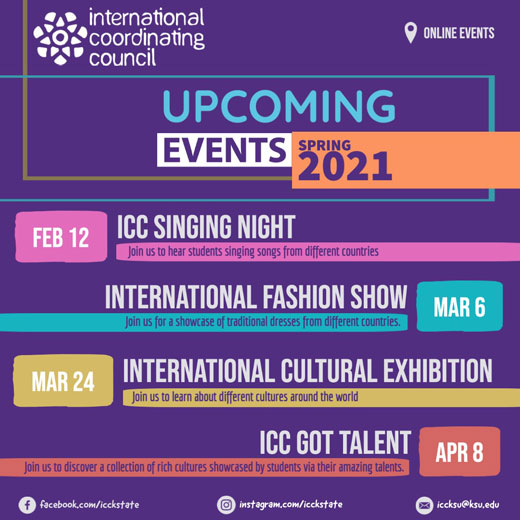 ICC events flyer
