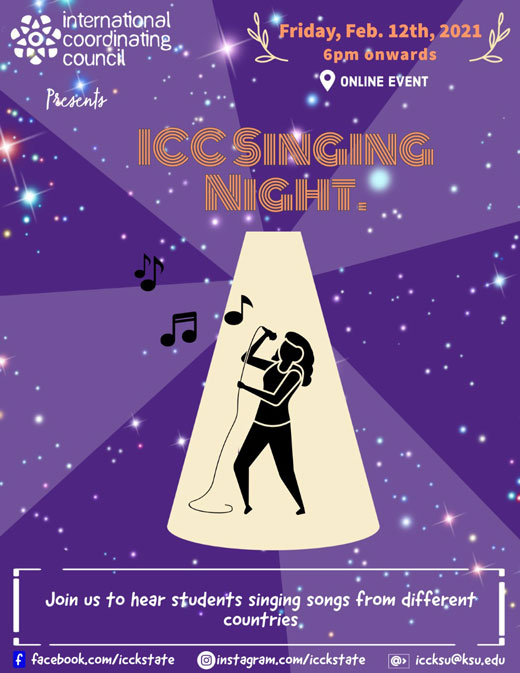 International Singing Night poster