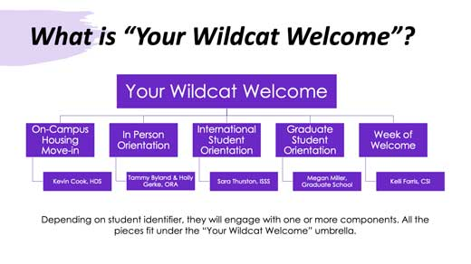 Your Wildcat Welcome Org chart