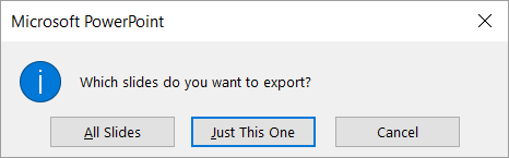Choose which slides to export