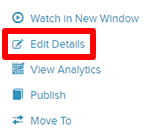 Edit Details button