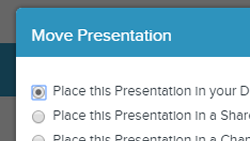 Move or Reorganize a Presentation