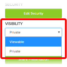 Visibility Options