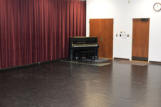 Nichols Hall 007 dance studio