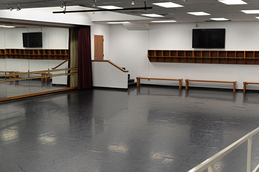 Nichols Hall 008 dance studio
