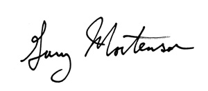 Gary Mortenson signature