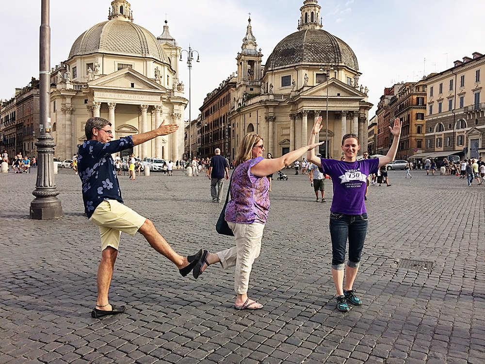 Students doing KSU in Rome
