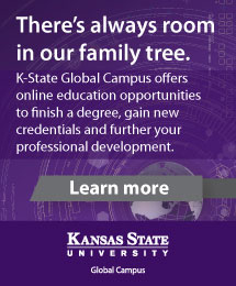 K-State Global Campus offers online education opportunities to finish a degree, gain new credentials and further your professional development.