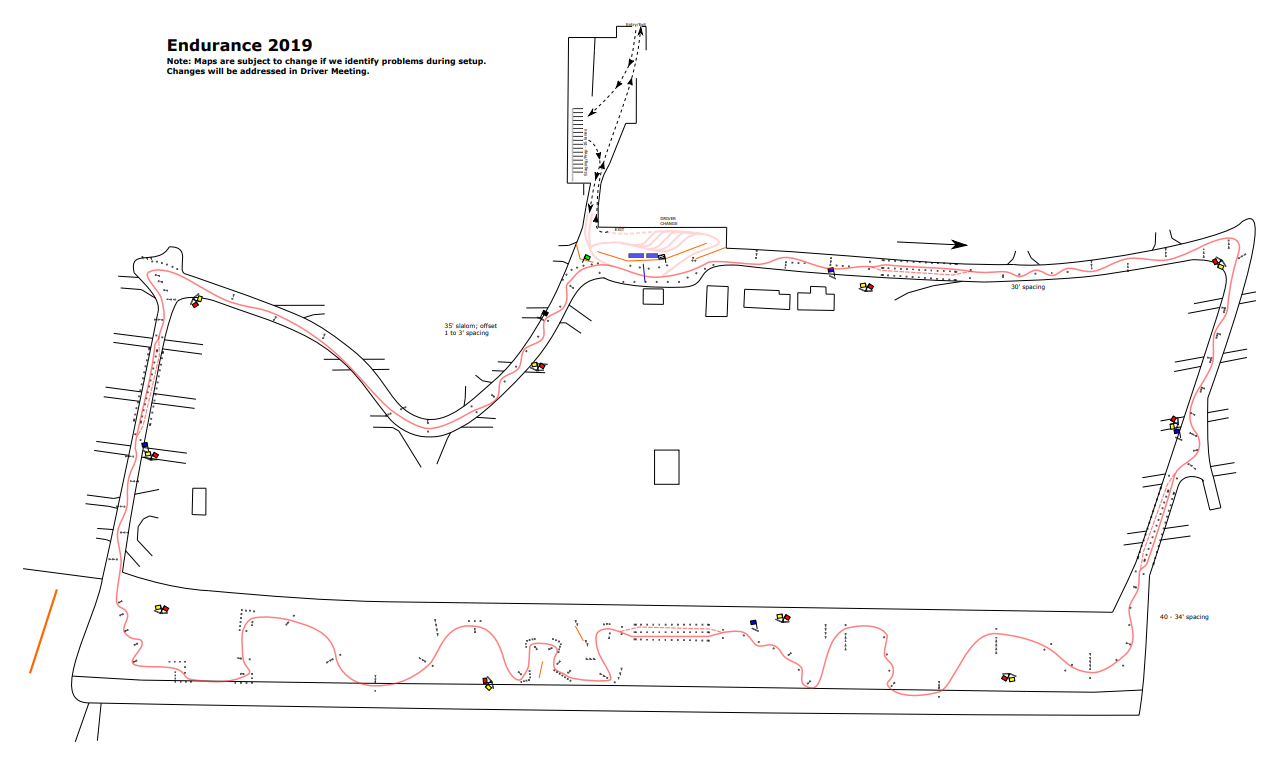 FSAE Michigan Course Map