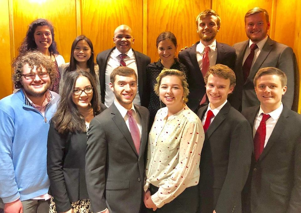 The Mock Trial Team poses for a group photo after a recent competition