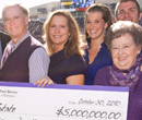 President Schulz and other key supporters celebrate a $5 million gift from the Berneys.