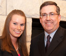 President Schulz and Goldwater Scholar Emily Tummons pose for a photo.