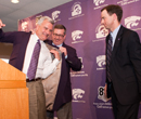 Schulz and Athletic Director John Currie welcome Bruce Weber as K-State's new basketball coach.