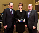 K-State College of Education alumni fellow Cindy Slavik Couchman along with Regent Gerald Boetcher.