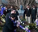 Laying wreaths to honor the memory of Dr. Martin Luther King Jr.