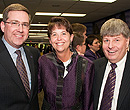 President Schulz with KSU Foundation Executive Committee member Tara and Terry Cupps.