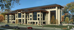 Renderings of the exterior of the new College of Business Administration building