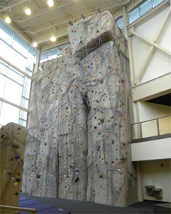 40-foot indoor rock climbing wall added to rec complex