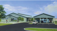 Equine Performance Testing Facility rendering