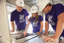 Students work in the new O.H. Kruse Feed Technology Innovation Center