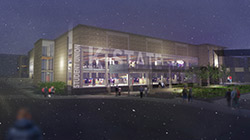 Rendering of the new Student Union exterior