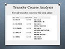 Transfer Course Analysis