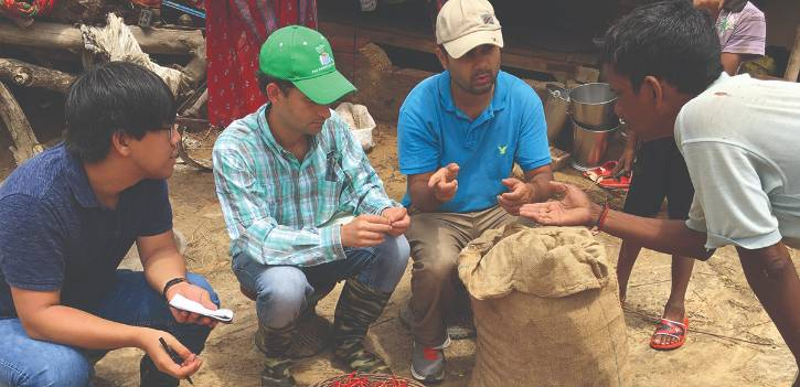 Jagger Harvey is improving food security in Nepal.