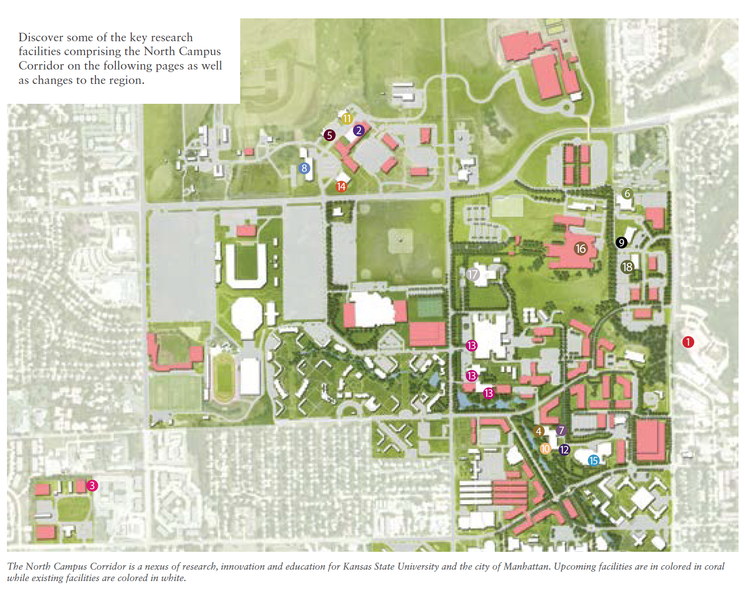 North Campus Corridor Map