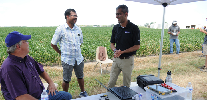 K-State researchers discuss agricultural robots.
