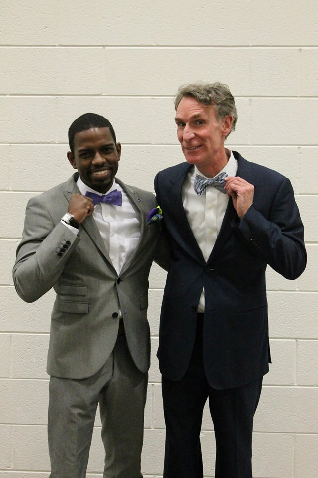 Adam Miller and Bill Nye the Science Guy