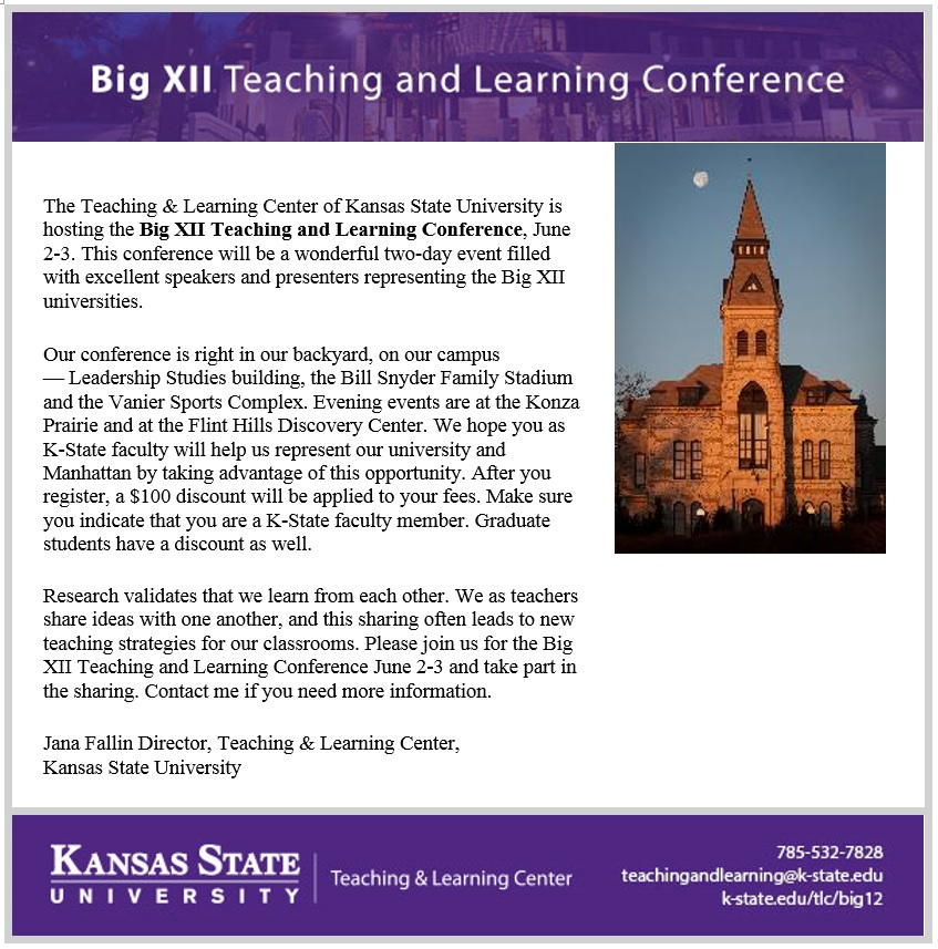 3rd annual big xii teaching and learning conference big xii invitation letter stopboris Image collections