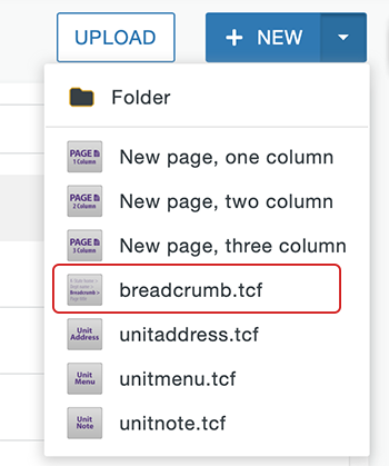 Create breadcrumb from breadcrumb.tcf