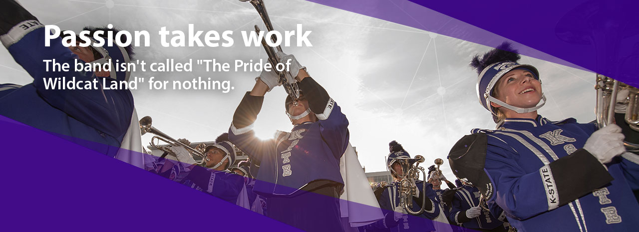 "Passion takes work:  The band isn't called ""The Pride of Wildcat Land"" for nothing"