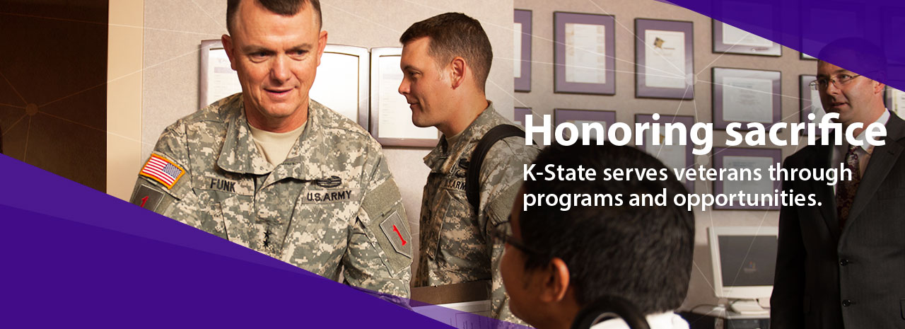 Honoring sacrifice:  K-State serves veterans through programs and opportunities