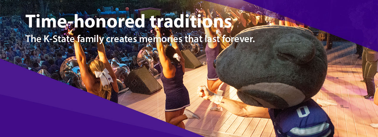 Time-honored traditions:  The K-State family creates memories that last forever